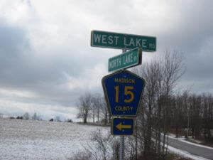 Wegen in de VS, rondreis door West-Amerika, County Road