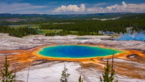 Yellowstone National park, rondreis door West-Amerika, VS, vulkanisme, natuur, Beauty Pool