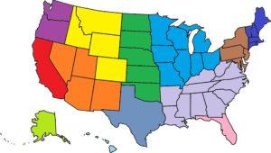 Regio's Verenigde Staten